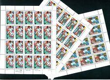 #2834 - 36 1994 World Cup Fußball Ausgabe 3 Postfrisch Blätter 29¢ 40¢ 50¢ MNH