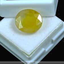 9.60 Cts Huge Natural Yellow Sapphire (Pukhraj) Oval Ceylon Certiifed Gemstone