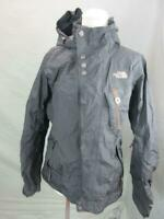 THE NORTH FACE SIZE M WOMENS BLACK FULL ZIP HOODED SNOWBOARD SKI JACKET T646