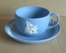 Wedgwood Jasperware Blue Christmas Pudding 1996 Cup & Saucer
