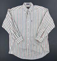 Vintage 90's Chaps Ralph Lauren Mens Stripped Long Sleeve Shirt Size 16 32/33