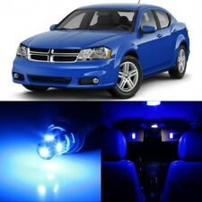 11 x Ultra Blue Interior LED Lights Package For 2008 - 2014 Dodge Avenger +TOOL