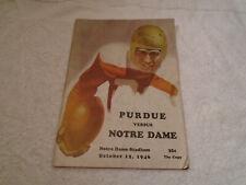 1946 Notre Dame Fighting Irish vs Purdue complete Vintage Football Program