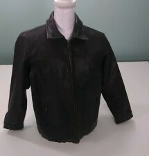 Mens New York Classics Perfectly Distressed Biker Jacket Size  Large