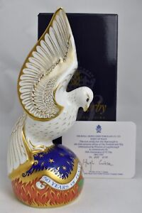 Royal Crown Derby Spirit of Peace Dove. Boxed with Certificate.