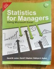 Statistics for Managers Using Microsoft Excel Paperback #4964