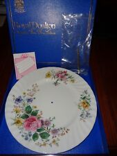 Very Pretty Floral Royal Doulton ARCADIA H4802 Cake Plate Gold Handle