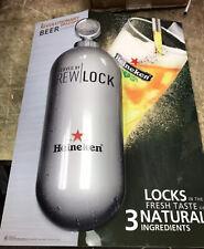 Heineken Beer Lighting Sign Backlit Man Cave Collectible Brew Lock 3D