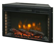 "26"" Electric Firebox Insert - with Fan Heater and Glowing Logs for Fireplace"