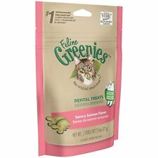FELINE GREENIES Dental Cat Treats 2.5 oz Salmon