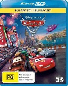 Cars 2 3D Blu-ray + Blu-Ray - New & Sealed