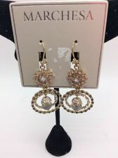 & stone Orbital drop earrings m1G $78 Marchesa gold tone crystal cluster
