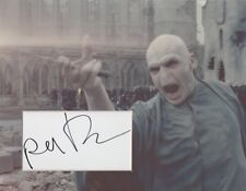 RALPH FIENNES Signed 10x8 Photo Display VOLDEMORT In HARRY POTTER COA