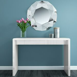 Narrow White Console Table in Modern High Gloss - Tiffany