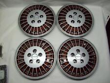 "Four 1985-89 Pontiac Grand Am 13"" Maroon Brown Color Hub Cap's GM 22535805"