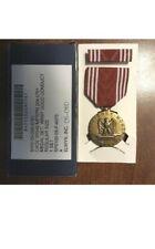 Military Army Good Conduct Medal & Ribbon Bar Set Uniform Regulation