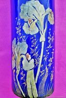 Vase ancien en verre Iris Art Nouveau début XXème siècle Fran.Antique vase Iris