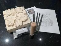 Stone Carving 'Green Man'  Kit - 11 piece Full Set