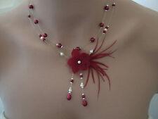 Collier Bordeaux/Ecru p robe d Mariée/Mariage fleur disponible grande taille