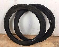 2 Schwinn Knobby Bicycle Tires 20 x 2.20 Set Pair Fits Sting Ray Bike 20x2.2