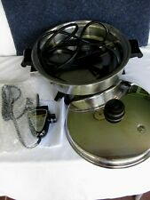 SALADMASTER STAINLESS STEEL MODEL 7817 ELECTRIC SKILLET VAPO LID NEW ELEC. PROBE