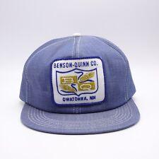 K-Products USA Front Patch Vtg Denim Trucker hat Benson Quinn Grain Snapback cap