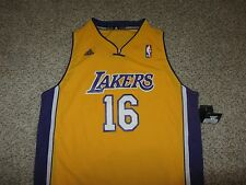 NWT Pau Gasol Los Angeles Lakers NBA Basketball Jersey Adidas Swingman Youth XL