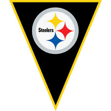 NFL PITTSBURGH STEELERS PENNANT BANNER ~ Birthday Party Supplies Decoration Boy