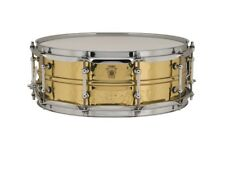 Ludwig Supraphonic Brass Hammered Snare Drum w/ Tube Lugs 5x14 - Video Demo