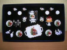Reutter Porzellan Kaffeeservice 25tlg Weihnachten Puppenstube 1:12 Art. 1.334/3