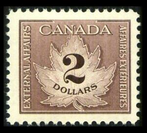 Van Dam FCF4 CANADA REVENUE 2$ Brown CONSULAR FEE MNH $80+ SEE PHOTOS Lot L-532