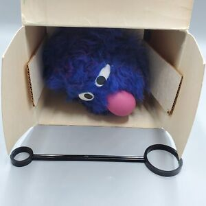 Vintage Grover Hand Puppet Sesame Street with Wand/Box Questor