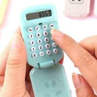 Cartoon Mini Pocket Calculators Handheld Silicone Button Battery Accessory Y2Y0