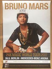 Bruno Mars 2017 Berlin-orig. Concert Poster -- CONCERT AFFICHE a1 NEUF