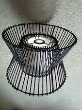 Woven Wicker Rattan Lamp Shade,Ceiling Light Pendant,vintage Retro, black