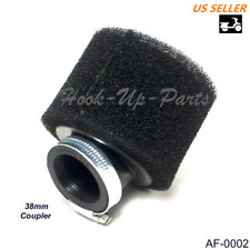 38mm Bend Foam Air Filter for 90cc-125cc ATV Go Kart Moped Scooter Pocket Bike