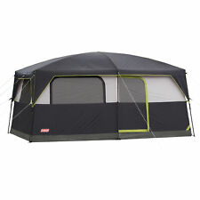 Coleman Prairie Breeze 8-Person Cabin Tent with Built-In LED Light and Integrat