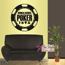Vinyl Decal World Series of Poker Logo Chips Cards Suits Casino Gambling 1347