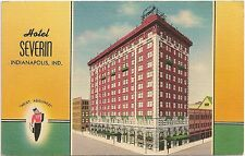 Hotel Severin in Indianapolis IN Postcard