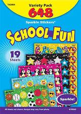 648 Reward Sparkle stickers - School Fun Variety Pack