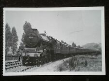 POSTCARD JUBLEE CLASS LOCO 45572  WITH A 12 COACH EXPRESS IN 1949