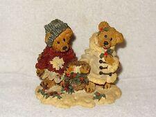 Boyds Bears Figurine- Bailey & Edmund- Gathering Holly-Christmas- Friends- 1994
