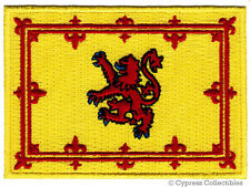 SCOTLAND FLAG iron-on PATCH SCOTTISH ROYAL STANDARD LION RAMPANT applique NEW