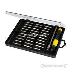 SCREWDRIVER BIT SET PHILLIPS POZI SLOTTED TORX HEX WATCH JEWELLERY LAPTOP