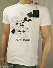 Original PEPE JEANS T-Shirt Größe L Weiß Racing Team NEU
