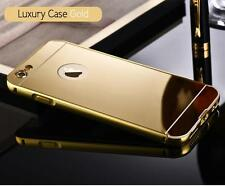 Luxury Aluminum Ultra-thin Metal Bumper Mirror Back Case Cover for Apple iPhone