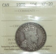 Canada 1909 Silver 50 Cents ICCS VF-20