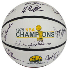 1978-79 NBA CHAMP SUPERSONICS AUTOGRAPHED BASKETBALL 9 SIGS WILKENS MCS 145851