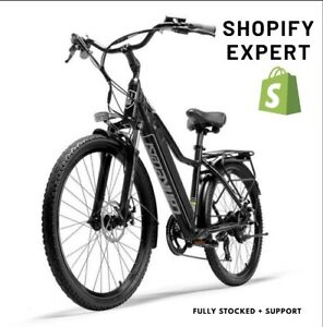 PREMIUM SHOPIFY ELECTRIC BIKE DROPSHIPPING WEBSITE BUSINESS, STOCKED + SUPPORT