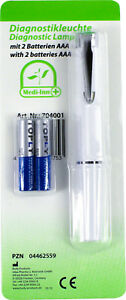 Medi-Inn Diagnostikleuchte Pupillenleuchte Penlight mit Batterien